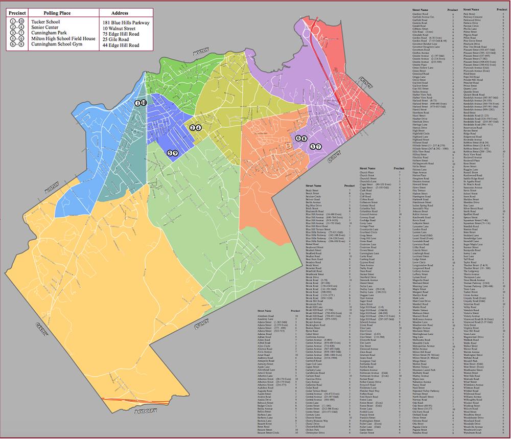 Milton, MA precinct map