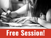 teen girl writing - free session!