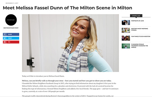 Melissa Fassel Dunn Boston Voyager article