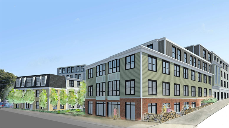 Falconi companies revised East Milton proposal increases proposed development size to 5 levels, 64 units