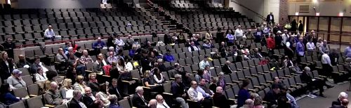 Standing vote during Town Meeting 2018, article 15