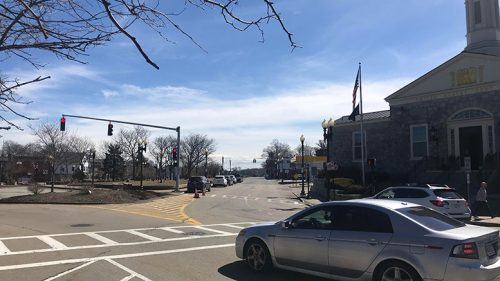 East Milton Square post office red light traffic