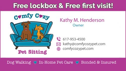 Comfy Cozy Pet free lockbox special