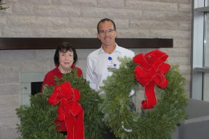 Beth Isreal Deaconess Hospital Holiday Wreath Donation