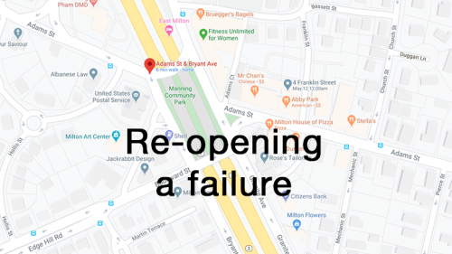 re opening a failure