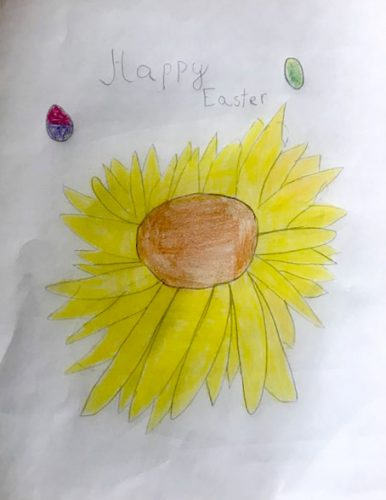 Happy Easter from A. Cela, Age 8 drawing