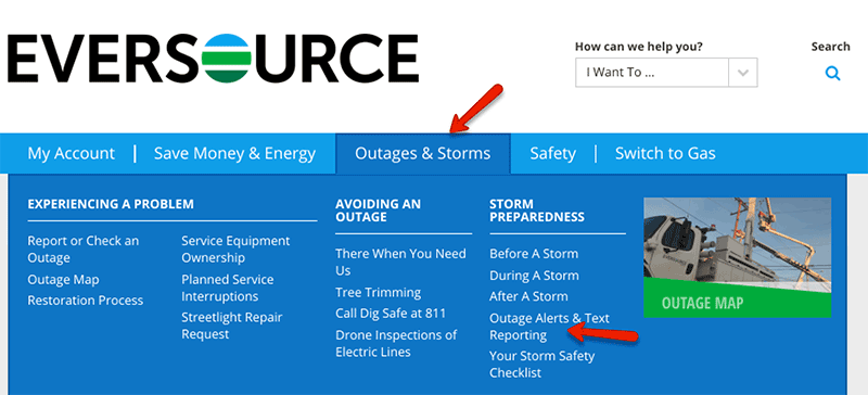 Eversource outages and alerts