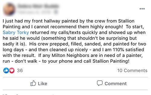 Stallion painting reviews in milton neighbors